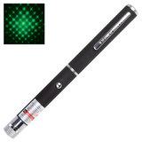 Указка лазерная, радиус 1000 м, зеленый луч, плюс 1 насадка, черный корпус, клип, футляр, TD-GP-20