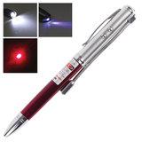 Указка лазерная, радиус 200 м, красный луч, LED-фонарь, стилус, детектор купюр, ручка, TD-RP-36