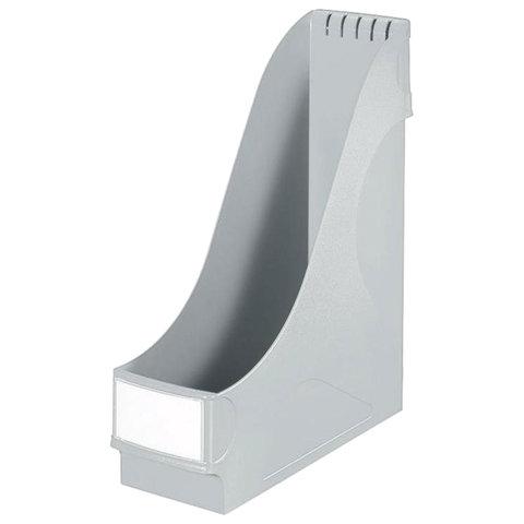 Лоток вертикальный для бумаг LEITZ, ширина 95 мм, серый, 24250085