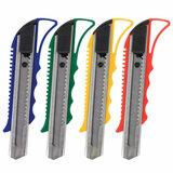 """Нож канцелярский 18 мм STAFF """"Profit"""", усиленный, металлические направляющие, автофиксатор, ассорти, 237083"""