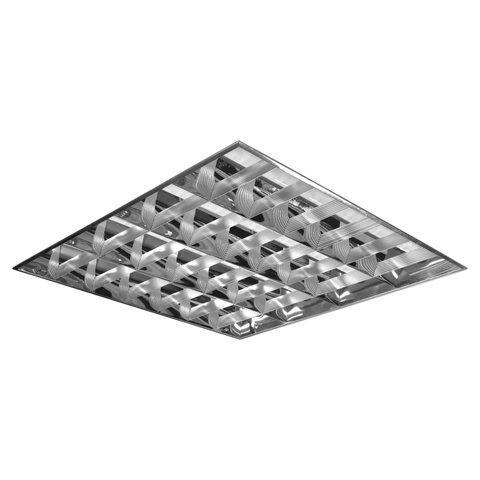 Светильник светодиодный АРМСТРОНГ, КСЕНОН, 4 LED лампы х10 Вт, без ПРА, зеркальный растровый, 595x595x70, 0140418103-11