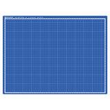 Коврик (мат) для резки BRAUBERG EXTRA 5-слойный, А2 (600х450 мм), двусторонний, толщина 3 мм, синий, 237176