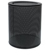 Корзина металлическая для мусора ТИТАН, 16 литров, перфорированная, черная, оцинкованная сталь, 415