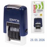"Датер-мини STAFF, месяц цифрами, оттиск 22х4 мм, ""Printer 7810 BANK"", 237433"