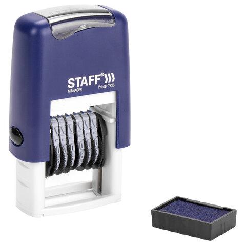 Нумератор 6-разрядный STAFF, оттиск 22х4 мм,