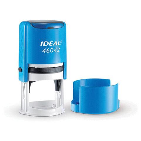 Оснастка для печати оттиск D= 42мм, синий, TRODAT IDEAL 46042, подушка, корпус синий, ш/к 53109, 125310