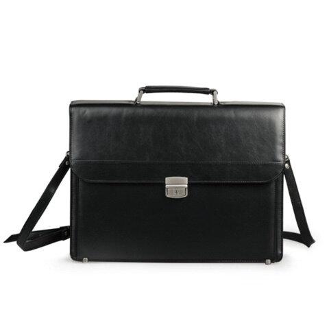 Портфель из кожзаменителя, черный, 2-094