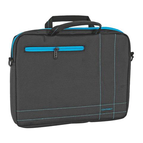"""Сумка деловая CONTINENT CC-201 GB, отделение для планшета и ноутбука 15,6"""", ткань, серая, 40x30x5 см"""