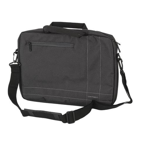 """Сумка деловая CONTINENT CC-201 GA, отделение для планшета и ноутбука 15,6"""", ткань, серая, 40x30x5 см"""