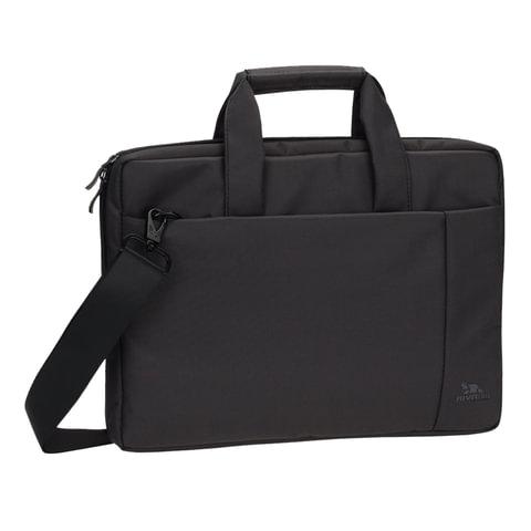 """Сумка деловая RIVACASE 8231 black, отделение для планшета и ноутбука 15,6"""", ткань, черная, 39x29x7 см, 8231 Black"""