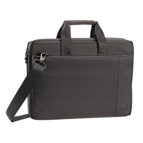 """Сумка деловая RIVACASE 8251 grey, отделение для планшета и ноутбука 17,3"""", ткань, серая, 45,5x32x7 см, 8251 Grey"""