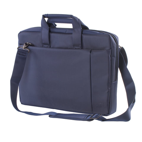 """Сумка деловая RIVACASE 8231 blue, отделение для планшета и ноутбука 15,6"""", ткань, синяя, 39x29x7 см, 8231 Blue"""