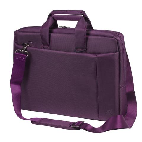 """Сумка деловая RIVACASE 8231 purple, отделение для планшета и ноутбука 15,6"""", ткань, пурпурная, 39x29x7 см, 8231 Purple"""