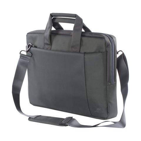 """Сумка деловая RIVACASE 8231 grey, отделение для планшета и ноутбука 15,6"""", ткань, серая, 39x29x7 см, 8231 Grey"""