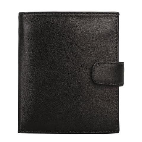 """Портмоне мужское FABULA """"Estet"""", натуральная кожа, застежка-кнопка, 105х112 мм, черное, PM.4.MN"""