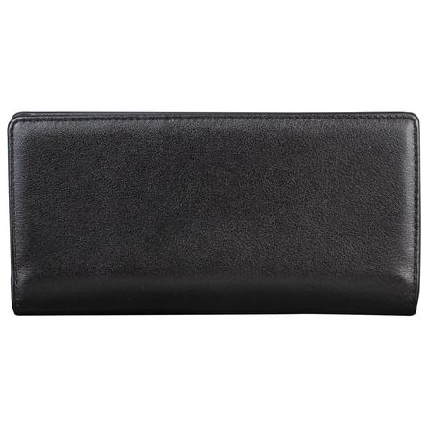 """Портмоне мужское FABULA """"Estet"""", натуральная кожа, на кнопке, 185х95 мм, черное, PM.24.MN"""