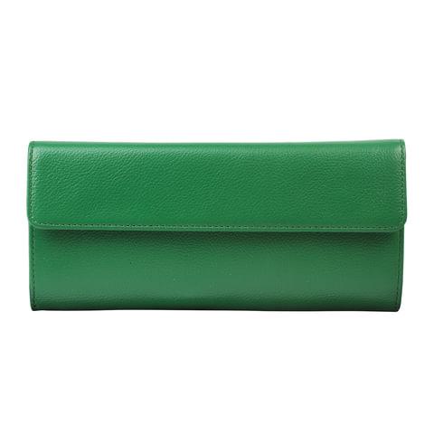 "Портмоне женское FABULA ""Every day"", натуральная кожа, кнопка, 190х90 мм, зеленое, PJ.82.FP"