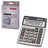 Калькулятор STAFF настольный металлический STF-1212, 12 разрядов, двойное питание, 140х105 мм