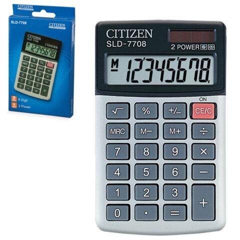 Калькулятор CITIZEN карманный SLD-7708, 8 разрядов, двойное питание, 112х68 мм