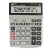 Калькулятор настольный металлический STAFF STF-1714 (200х152 мм), 14 разрядов, двойное питание, 250180