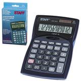 Калькулятор STAFF настольный STF-7212, 12 разрядов, двойное питание, 150х100 мм