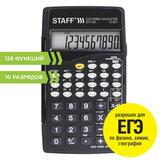 Калькулятор инженерный STAFF STF-245, КОМПАКТНЫЙ (120х70 мм), 128 функций, 10 разрядов, 250194