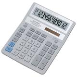 Калькулятор CITIZEN настольный SDC-888 XWH, 12 разрядов, двойное питание, 203х158 мм, белый