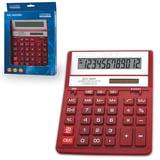 Калькулятор настольный CITIZEN SDC-888ХRD (203х158 мм), 12 разрядов, двойное питание, КРАСНЫЙ