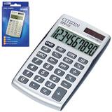 Калькулятор CITIZEN карманный CPC-110WB, 10 разрядов, двойное питание, 105х64 мм