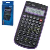 Калькулятор CITIZEN инженерный SR-260NPU, 10+2 разряда, питание от батарейки, 154х80 мм, фиолетовый