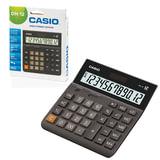 Калькулятор CASIO настольный DH-12-BK-S, 12 разрядов, двойное питание, 159х151 мм, европодвес, черный/серый, DH-12-BK-S-EP