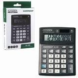 Калькулятор CITIZEN настольный Correct SD-208, 8 разрядов, двойное питание, 103x138 мм, черный, SD-208-RU