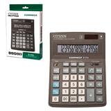 Калькулятор CITIZEN настольный Correct D-316, 16 разрядов, двойное питание, 155x205 мм, черный, D-316-RU