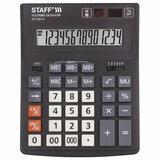 Калькулятор настольный STAFF PLUS STF-333 (200x154 мм), 14 разрядов, двойное питание, 250416