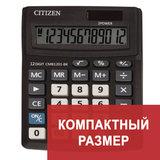Калькулятор настольный CITIZEN BUSINESS LINE CMB1201BK, МАЛЫЙ (137х102 мм), 12 разрядов, двойное питание