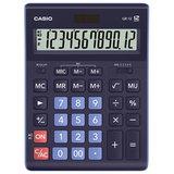 Калькулятор настольный CASIO GR-12-BU (210х155 мм), 12 разрядов, двойное питание, ТЕМНО-СИНИЙ, GR-12-BU-W-EP