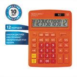 Калькулятор настольный BRAUBERG EXTRA-12-RG (206x155 мм), 12 разрядов, двойное питание, ОРАНЖЕВЫЙ, 250485