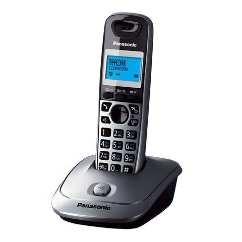 Радиотелефон PANASONIC KX-TG2511RUM, память 50 номеров, АОН, повтор, спикерфон, полифония, серый
