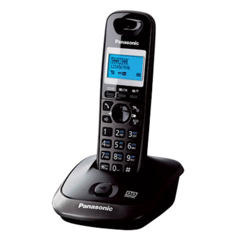 Радиотелефон PANASONIC KX-TG2521RUT, память 50 номеров, АОН, повтор, автоответчик, титановый