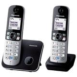 Радиотелефон PANASONIC KX-TG6812RUB + доп. трубка, память на 120 номеров, АОН, повтор, спикерфон, полифония, радиус 10-100 м