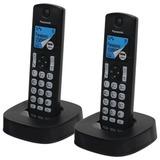 Радиотелефон PANASONIC KX-TGC322RU1 + доп. трубка, память 50 номеров, АОН, автоответчик, черный
