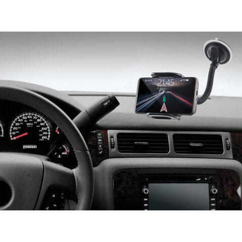 Держатель автомобильный универсальный DEFENDER Car holder 111, зажим 55-120 мм, на стекло, 29111