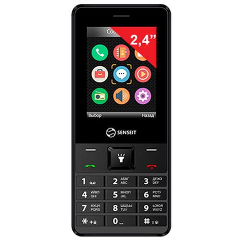"""Телефон мобильный SENSEIT L208, 2 SIM, 2,4"""", MicroSD, аккумулятор повышенной ёмкости, фонарик,черный"""