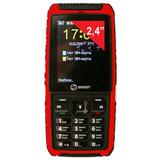 """Телефон мобильный SENSEIT P101, 2 SIM, 2,4"""", MicroSD, ударопрочный, водонепроницаемый, красный, P101 красный"""
