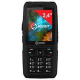 """Телефон мобильный SENSEIT P101, 2 SIM, 2,4"""", MicroSD, ударопрочный, водонепроницаемый, черный, P101 чёрный"""