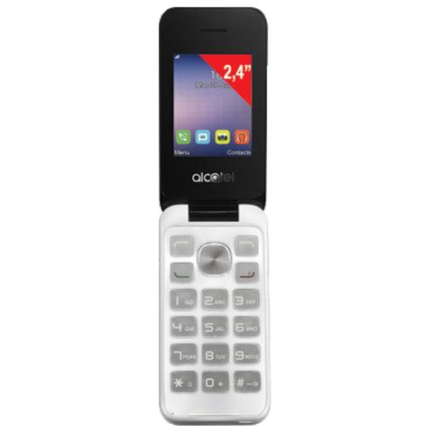 "Телефон мобильный ALCATEL One Touch 2051D, 2 SIM, 2,4"", MicroSD, белый, 2051D-3BALRU1"