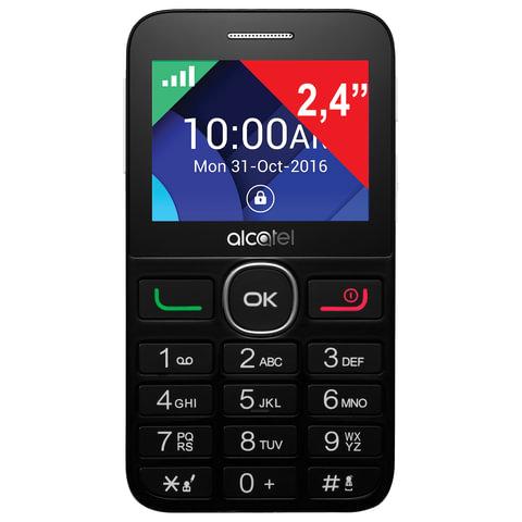 """Телефон мобильный ALCATEL One Touch 2008G, SIM, 2,4"""", MicroSD, черно-серебристый, 2008G-3BALRU1"""