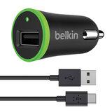 Зарядное устройство автомобильное BELKIN Universal, кабель Type-C 1.8 м, выходной ток 2.1 A, черное, F7U002bt06-BLK