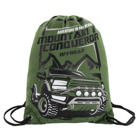 Сумка для обуви BRAUBERG PREMIUM, карман, подкладка, светоотражающие элементы, 43х33 см, Mountain conqueror, 270286