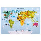 """Настольное покрытие ПИФАГОР, А3+, пластик, 46x33 см, """"Map"""", 270403"""
